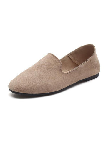Simple Comfortable Suede Shoes KHAKI 36