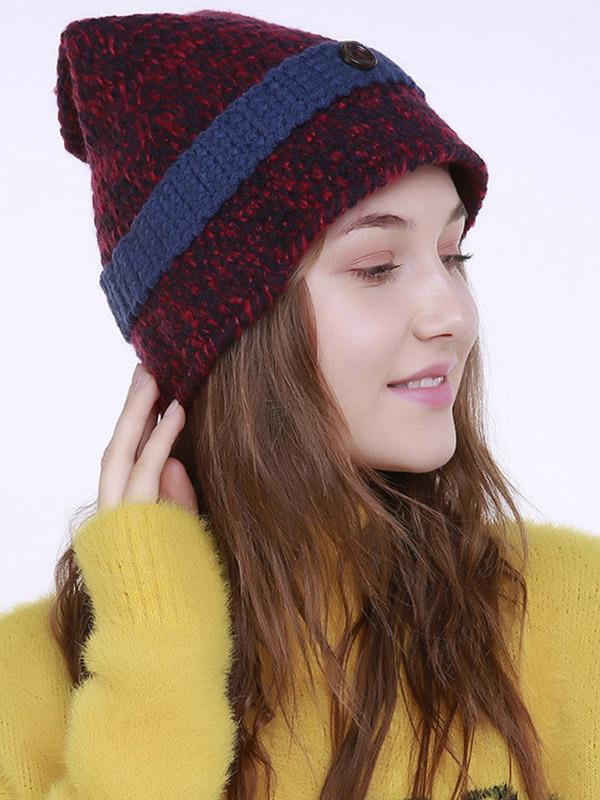 Bohemia Knitting 5 Colors Hat Accessories NAVY BLUE