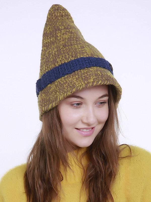 Bohemia Knitting 5 Colors Hat Accessories BLUE