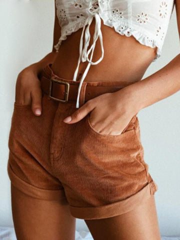 Image of Solid Color Short Bottoms CAMEL S
