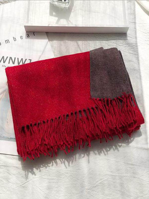 Dooerzi Two-sided Cotton Warmer Scarf