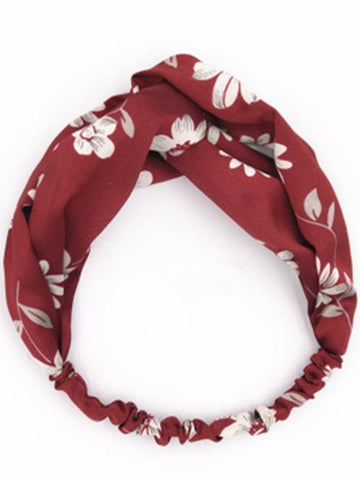 Bohemia Floral Hair Band Accessories RED