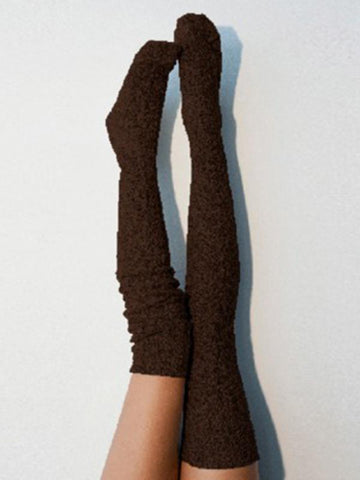 Knitting Over Knee-high 5 Colors Stocking WINE RED