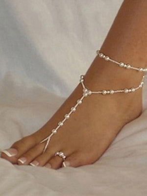 Pretty Beads Footchain Accessories FREE SIZE