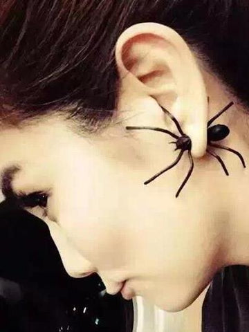 Punk Wacky Black Spider Earring Accessories FREE SIZE