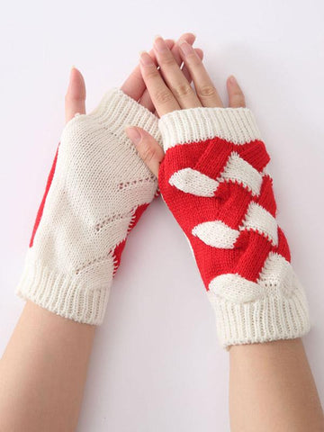 Image of Cute Knitted 5 Colors Sleevelet Accessories DEEP GRAY