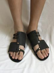 Causal Low Heel Beach Flat Sandals DEEP GRAY 42