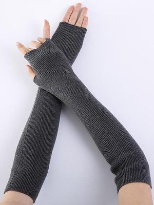 Knitted 7 Colors Sleevelet Accessories DEEP GRAY