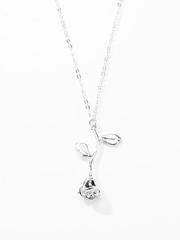 Image of Dooerzi Simple Rose Pattern Necklace