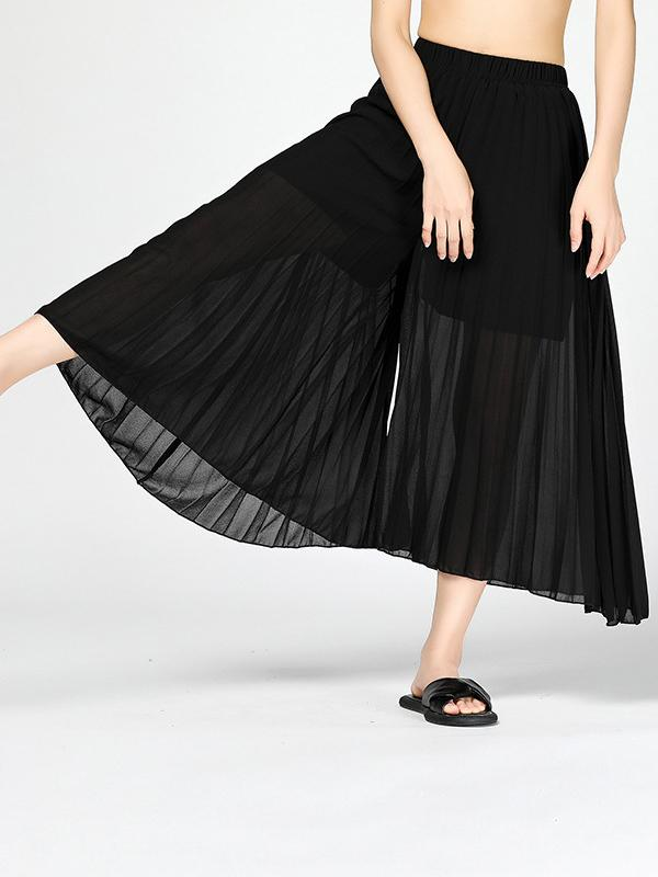 Original Designed Chiffon Pants BLACK FREE SIZE