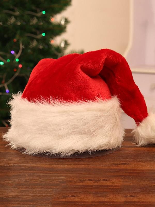 Charpie Velvet Santa Hat Decoration RED FREE SIZE