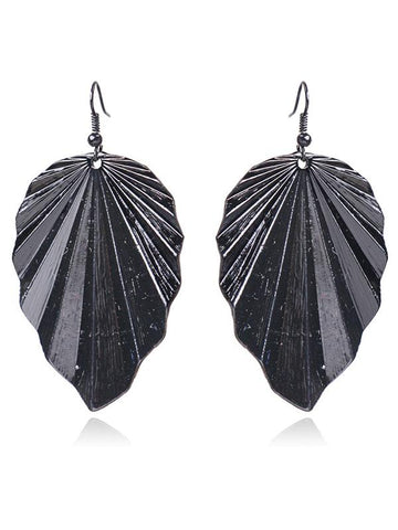 Image of Irregular Leaf Earrings Accessories BLACK FREE SIZE