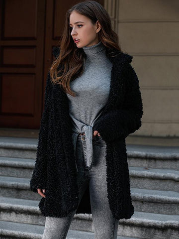Image of Black Faux Fur Outwear BLACK M