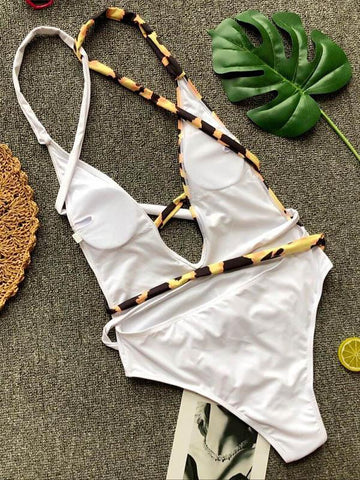Image of Half Printed One-piece Swimwear 3 M