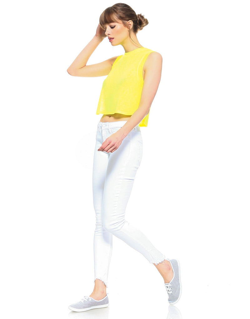 Slim Womens Cropped Skinny Fit - Optic White