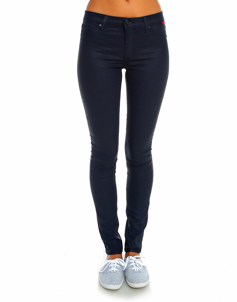 Slim Womens Skinny Fit - Coated Navy - WS