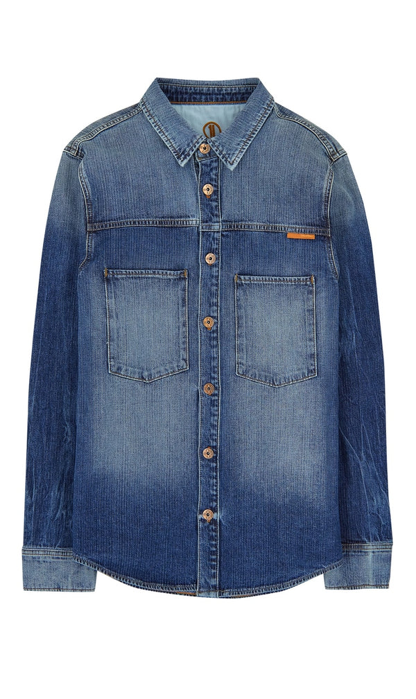 Standard Mens Regular Denim Shirt - Carson