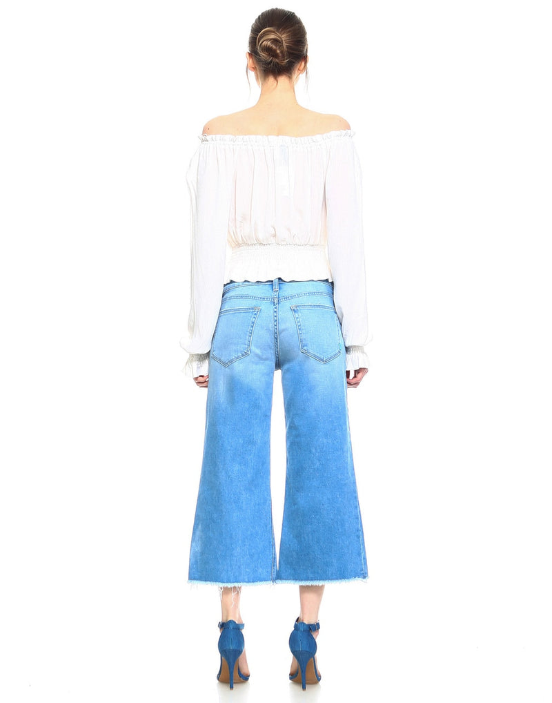 Slim Womens Wide Leg Crop - Venice