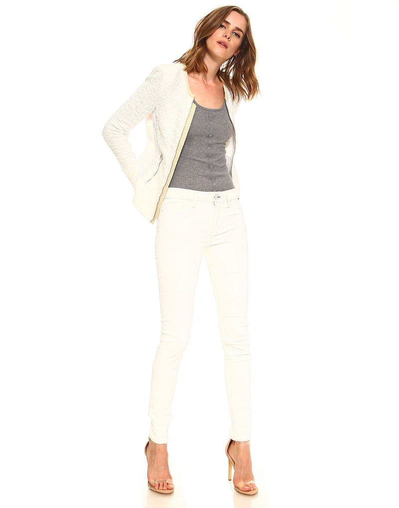 Slim Womens Skinny Fit - Coated Cream