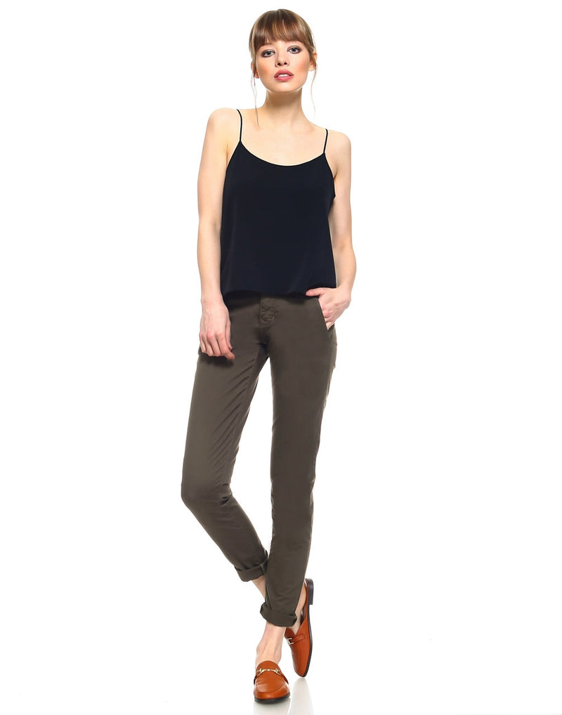 Standard Womens Cropped Trouser - Olive