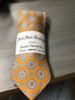 Yellow/gold light blue floral tie