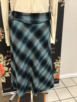 Teal Plaid Skirt