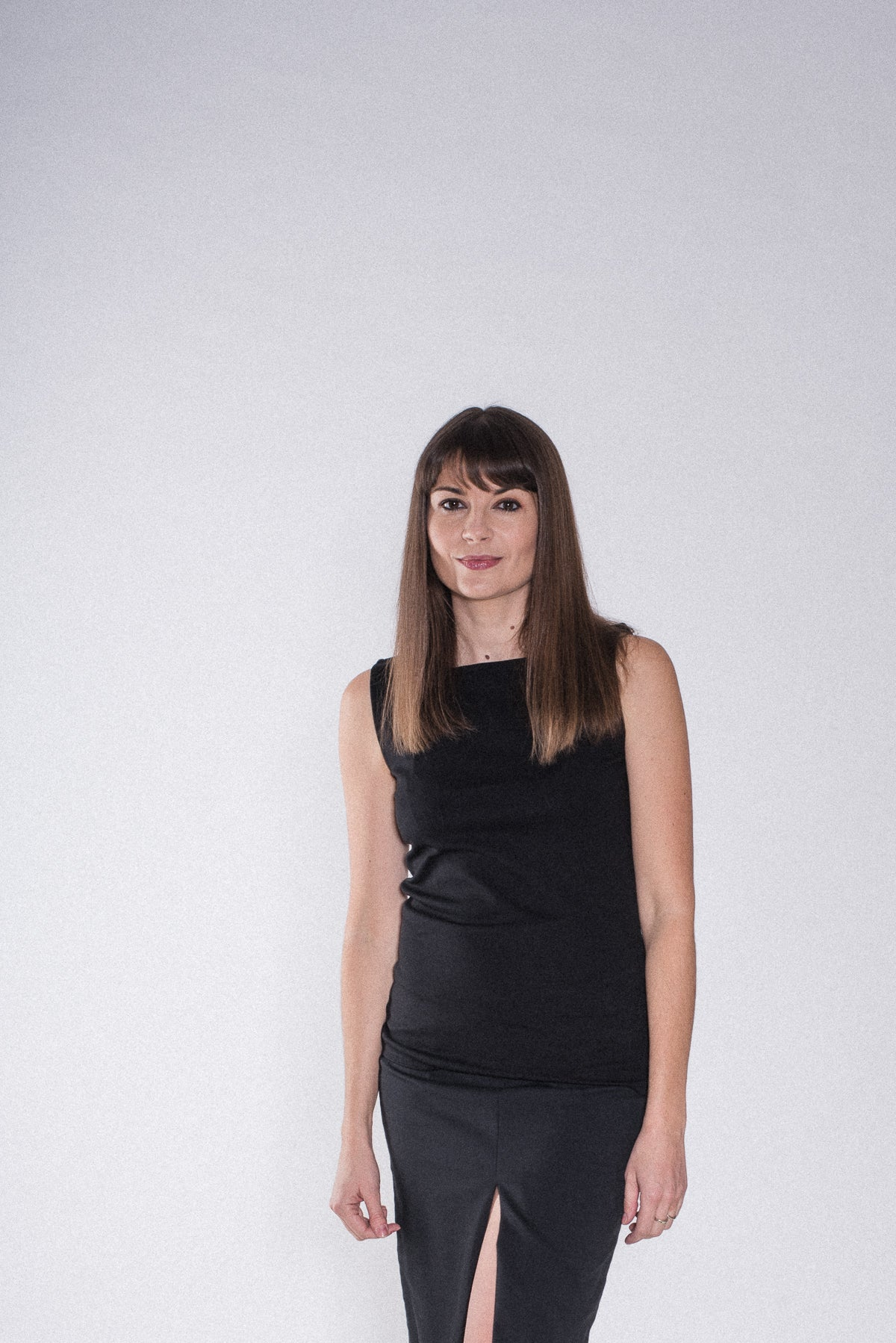 Jersey Top in schwarz, Ärmellos - Top - 7dresses
