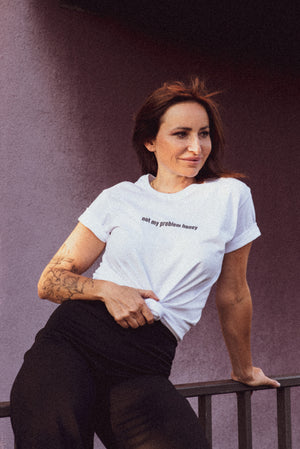 "T-Shirt mit Print ""Not my Problem honey"""