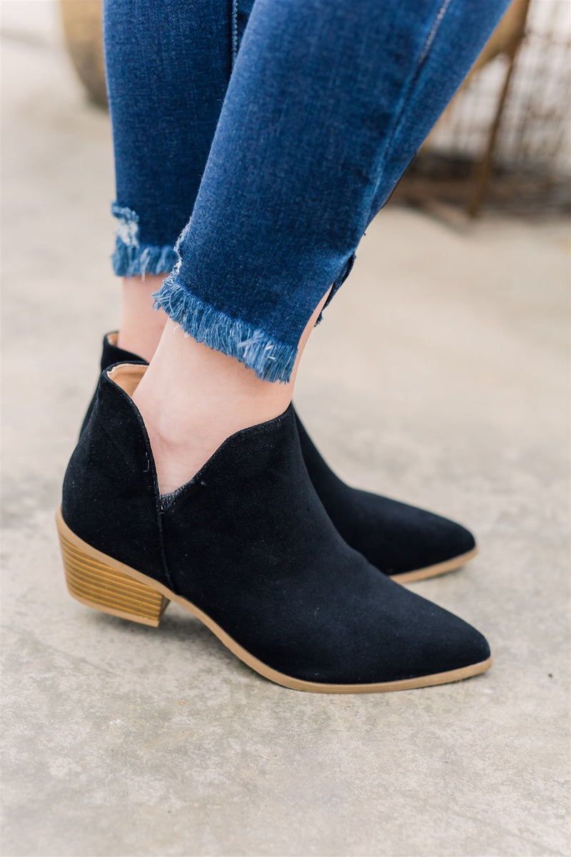 Diana Black Booties