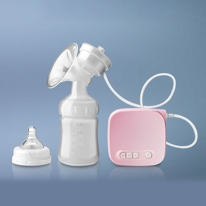 Electric Breast Pump, Natural Suction & Feeding Bottle, USB Chargable, Bobei