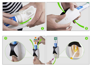 Creative Automatic Lazy Toothpaste Dispenser, 5 Toothbrush Holder