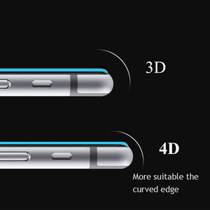 4D Curved Edge Full Cover Tempered Glass For iPhone10 X 8 7 6 6SPlus Premium Screen Protector Toughened Protective Cover Over 3D