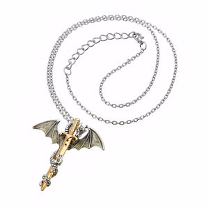 Glow in the Dark Sword Dragon Chain Necklace / GoT
