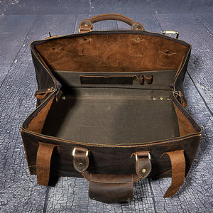 High Quality, Genuine Leather Vintage Duffle Bag, High Capacity, Luggage