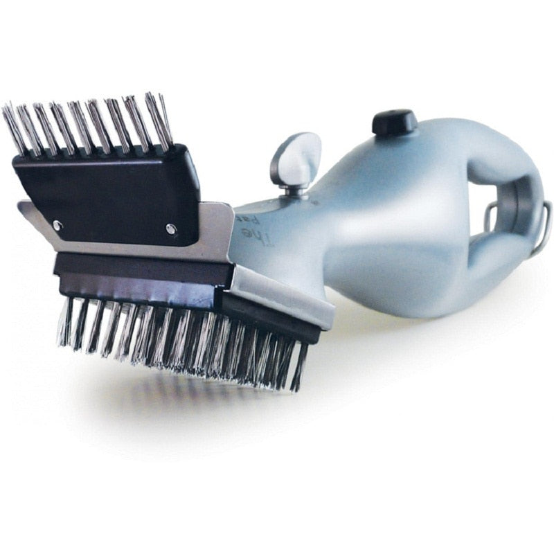 Innovative Stainless Steel BBQ Cleaning Brush, Steam Power