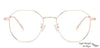 John Jacobs Golden Eyeglasses 136312