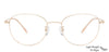 John Jacobs Golden Eyeglasses 144952