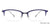John Jacobs Blue Eyeglasses 138838