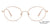 John Jacobs Rose Gold Eyeglasses 143348