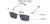 John Jacobs Magnetic Clip On Grey Eyeglasses 143485