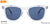 John Jacobs Blue Sunglasses 137131