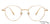 John Jacobs Golden Eyeglasses 143142 - Lenskart