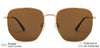 Vincent Chase Polarized Gold Sunglasses 138405