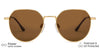 Vincent Chase Polarized Gold Sunglasses 138439