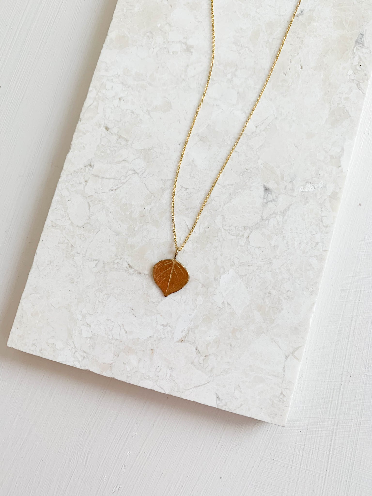 Aspen Leaf Necklace