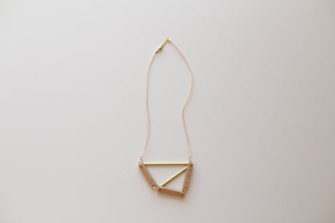 Pipe + Frame Necklace