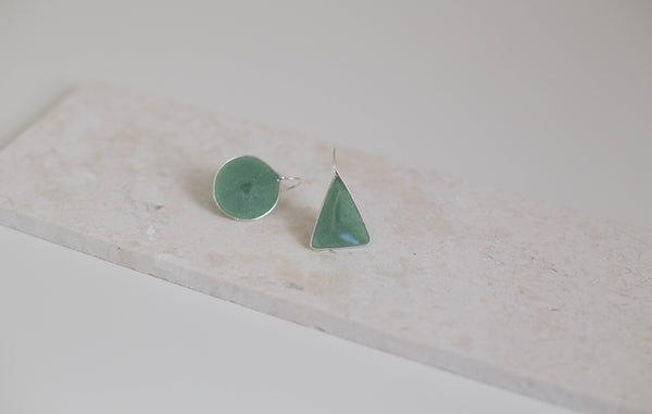 Asymetric Resin Earrings