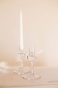 Glass Candlesticks | Found