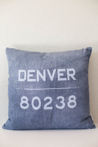 """80238"" Chambray Linen Throw Pillow"
