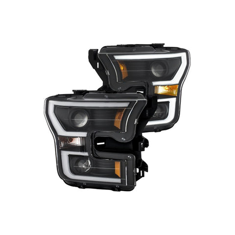ANZO Projector Headlights with Plank Style Switchback Black with Amber. - AC Cars